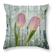 Tulips Two Throw Pillow