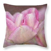 Tulips With Texture Throw Pillow