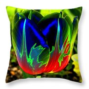 Tulipshow Throw Pillow