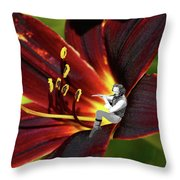Tullflower Throw Pillow