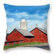 Tulmeadow Farm Throw Pillow