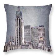 Tulsa Art Deco II Throw Pillow