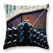 Tulsa Deco In The Snow Throw Pillow
