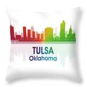Tulsa Ok 1 Squared Throw Pillow