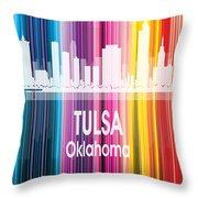 Tulsa Ok 2 Vertical Throw Pillow