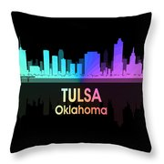 Tulsa Ok 5 Squared Throw Pillow