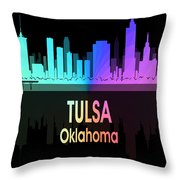 Tulsa Ok 5 Vertical Throw Pillow