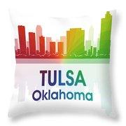 Tulsa Ok Throw Pillow