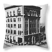 Tulsa, Oklahoma Panorama 1909 Throw Pillow