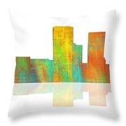 Tulsa Oklahoma Skyline-1 Throw Pillow