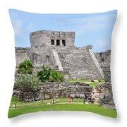 Tulum Ruins   Throw Pillow