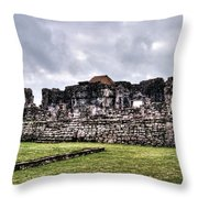 Tulum Ruins Throw Pillow