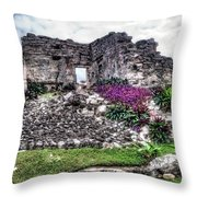 Tulum Temple Ruins No.2 Throw Pillow