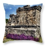 Tulum Temple Ruins Throw Pillow