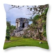 Tulum Watchtower Throw Pillow