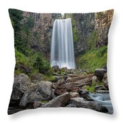 Tumalo Falls Closeup Throw Pillow
