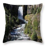 Tumalo Falls Throw Pillow