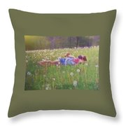 Tumble In The Grass Throw Pillow
