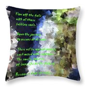Tumble Off The Waterfall  Throw Pillow
