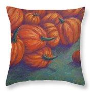 Tumbled Pumpkins Throw Pillow