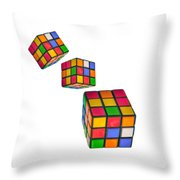 Tumbling Cubes Throw Pillow