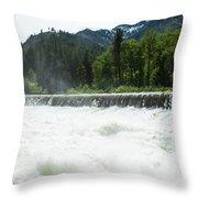 Tumwater Dam Throw Pillow