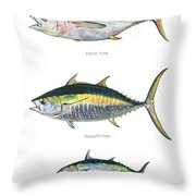 Tuna Fishes Throw Pillow