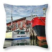 Tuna Fishing In Gloucester Throw Pillow