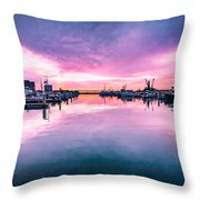 Tuna Harbor Sunrise Throw Pillow