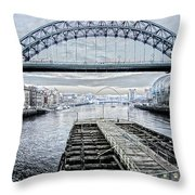 Tyne Bridge, Newcastle Throw Pillow