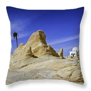 Tunisian Desertscape Throw Pillow