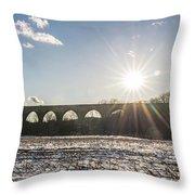 Tunkhannock Viaduct Throw Pillow
