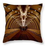 Tunnel Abstract Throw Pillow