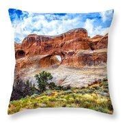 Tunnel Arch Trail View Throw Pillow