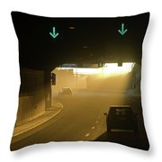 Tunnel Exit Throw Pillow