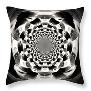 Tunnel Illusion Throw Pillow