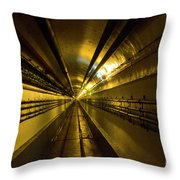 Tunnel In Schoenenbourg Fort, France Throw Pillow