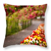 Tunnel Of Roses Throw Pillow