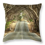 Tunnel Of Trees Throw Pillow