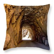 Tunnel Route 4nm Throw Pillow