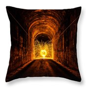 Tunnel Sparks Throw Pillow