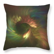 Tunnel Stretching Into The Distance Throw Pillow