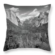 Tunnel View Bw Throw Pillow