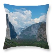 Tunnel View In Yosemite  Throw Pillow