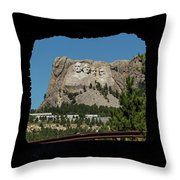 Tunnel View Mt Rushmore 2 A Throw Pillow