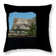 Tunnel View Mt Rushmore 2 B Throw Pillow
