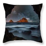 Tunnel View Nights Throw Pillow