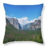 Tunnel View Panorama  Throw Pillow
