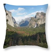 Tunnel View Shadow Throw Pillow