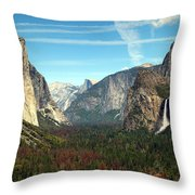 Tunnel View Yosemite Throw Pillow